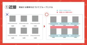 デザインの4大原則の中の「近接」の実例を示した図2